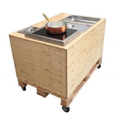 carretto show cooking piastra a induzione