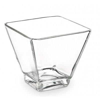 Vasetto Vetro Quadrato
