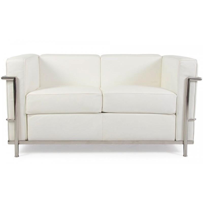 Noleggio divano 2 posti mod le corbusier bianco | Ristorent