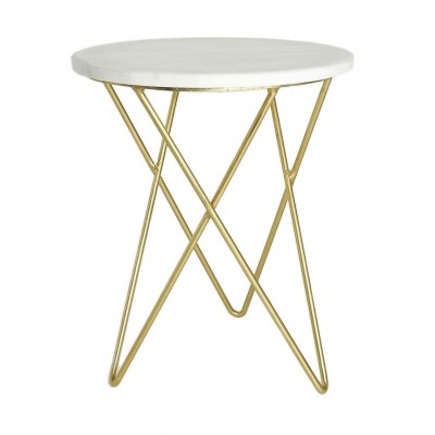Tavolino in Marmo Bianco